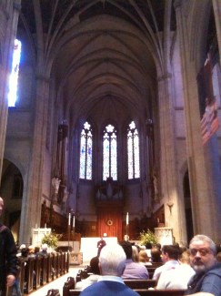 Interior of Grace Cathedral looking toward altar