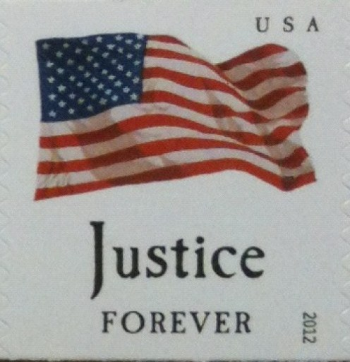 justice forever stamp