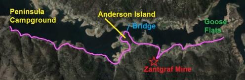 Folsom Peninsula, Anderson Island, Zantgraf Mine Hike Map