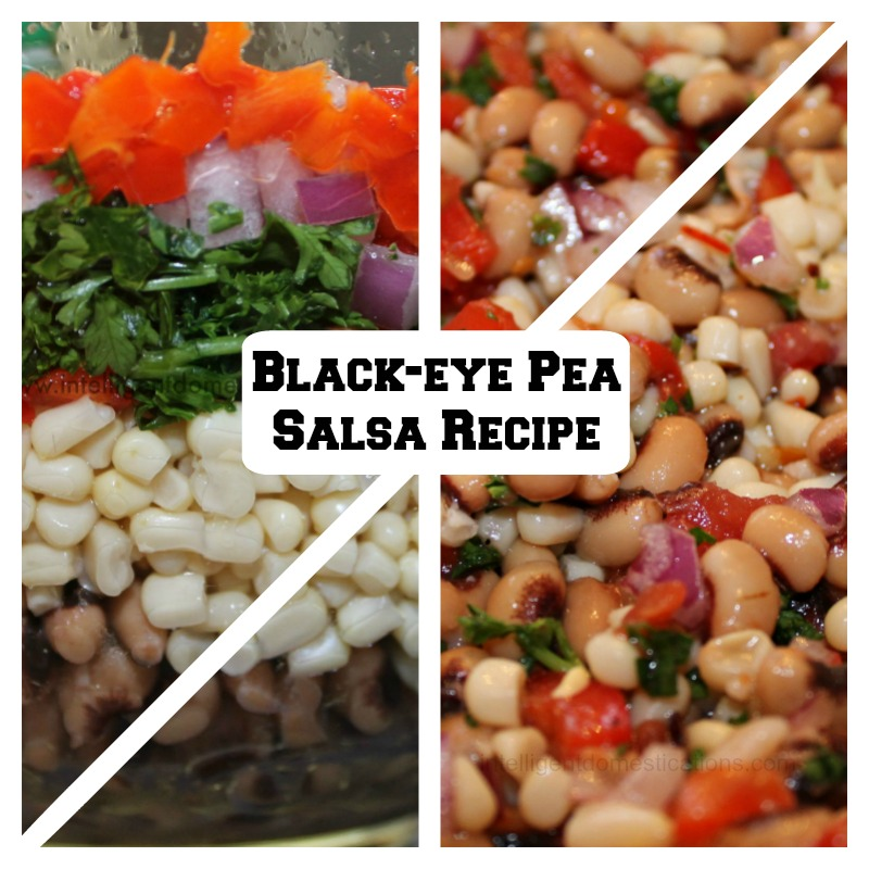Black-eye Pea Salsa recipe is perfect for game day.Recipe at www.intelligentdomestications.com