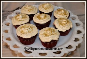 Mocha Red Velvet Cream Cheese Cupcakes Plated Intelligent Domestications