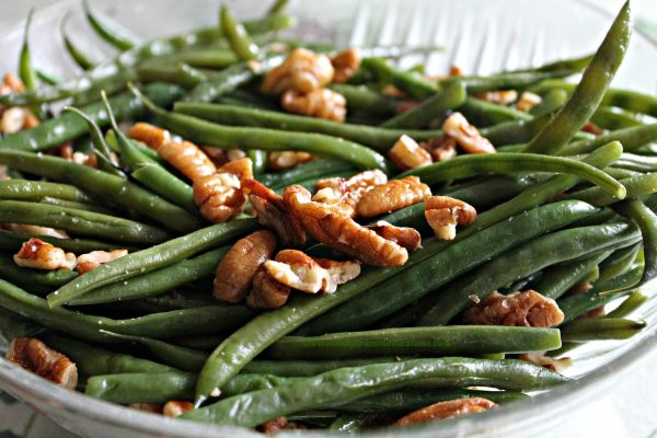 Green beans with pecans. Find recipes at www.intelligentdomestications.com