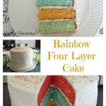 Rainbow Four Layer Cake is perfect for any celebration.intelligentdomestications.com