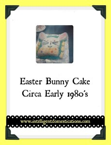 Retro Easter Bunny Cake Circa early 1980's by intelligentdomestications.com