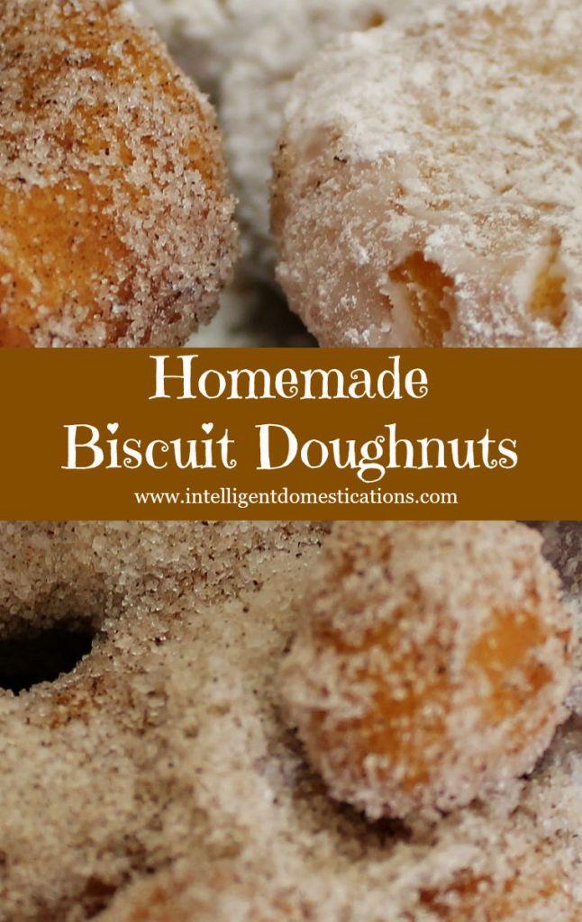 Homemade Biscuit Doughnuts.www.intelligentdomestications.com