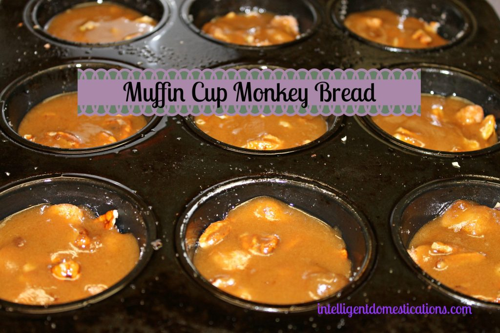 Muffin Cup Monkey Bread. Pour the caramel mixture over the biscuit mixture and place into the oven.intelligentdomestications.com