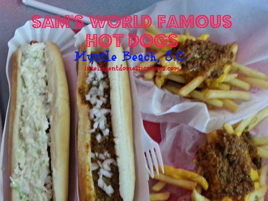 Sams Hot Dog Myrtle Beach S.C. Slaw Dog & Chili Dog with Chili Cheese Fries. Intelligentdomestications.com
