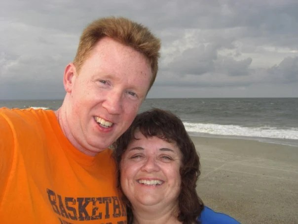Stacy and I on beach at Tybee
