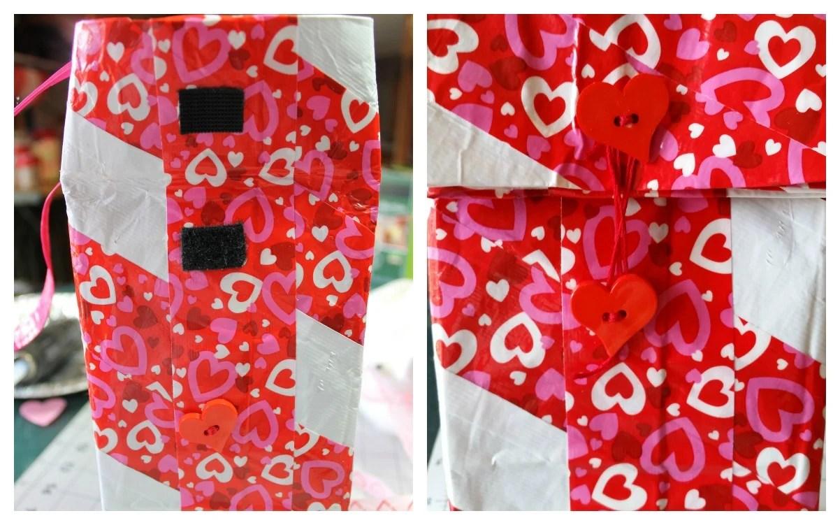 Closures for Valentine lunch bag. intelligentdomestications.com