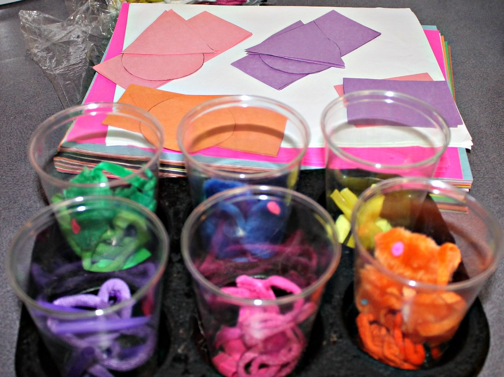 Sensory play learning colors