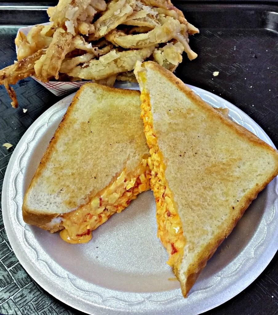 Beacon Drive In. Pimento Cheese Sandwich.Photo by Intelligentdomesticastions.com
