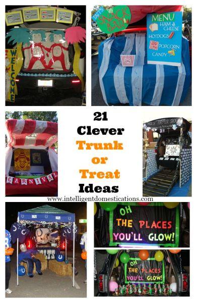 21 Clever Trunk or Treat Ideas at www.intelligentdomestications.com