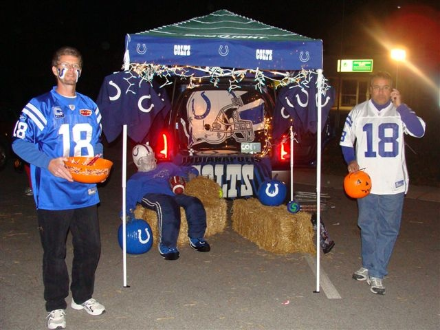Colts Trunk or Treat idea found on Pinterest