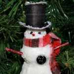 Chilly the Snowman Ornament thinks there may be ice on his top hat.intelligentdomestications.com