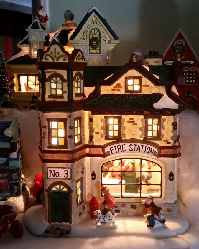 Christmas village Firehouse.intelligentdomestications.com