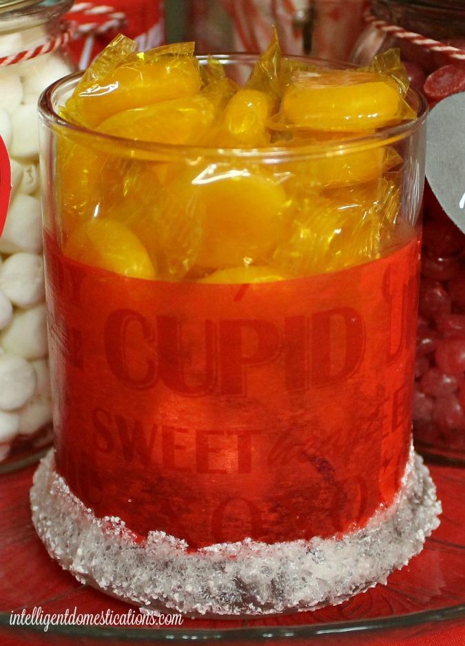 DIY Valentine Candy Jar close up.intelligentdomestications.com