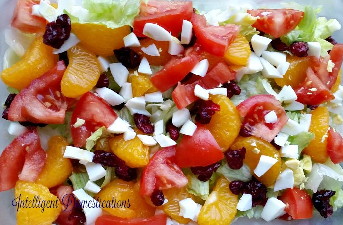 Mandarin Orange Salad with a luscious Mandarin Orange Dressing made from scratch to be enjoyed by your family. You can get these ingredients year round.