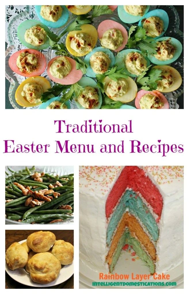 Traditional Easter Menu and Recipes at intelligentdomestications.com