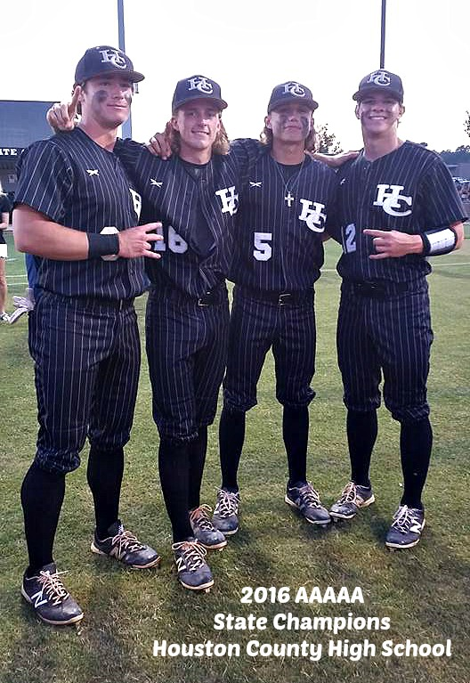 Christian and his buddies Cole, Lawson and Austin after winning the 2016 State Championship