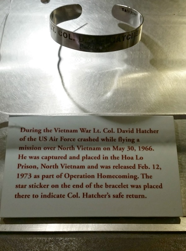 Among the many artifacts and exhibits you'll learn about POW's such as Col. Hatcher who spent 7 years in captivity during the Vietnam War