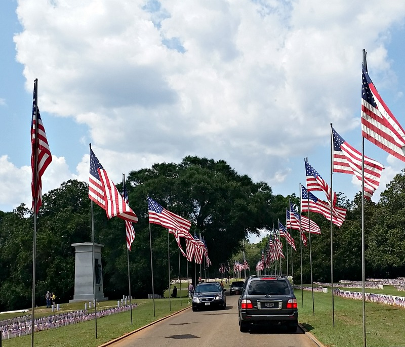 Avenue of Flags at Andersonville Civil War Prison Camp