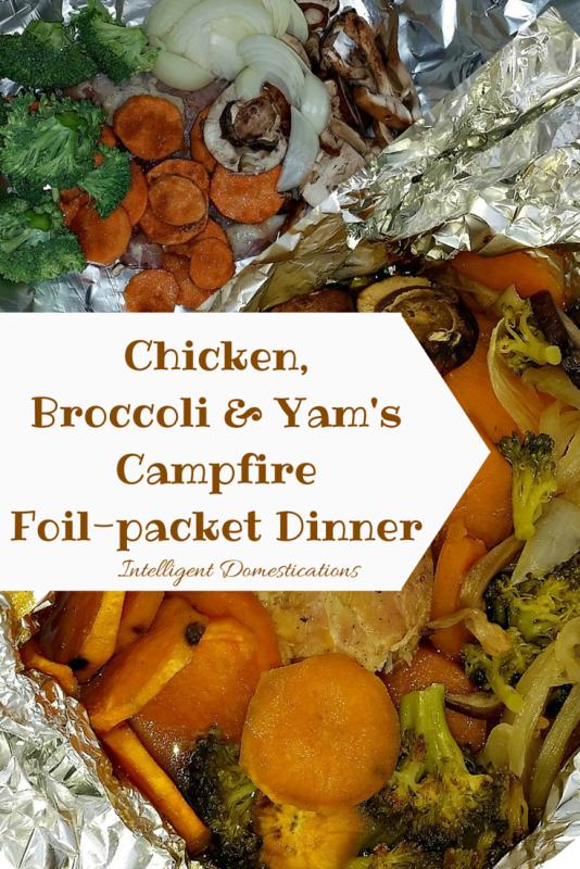 Chicken Broccoli & Yam Campfire Foil-Pack Dinner