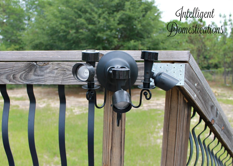 DIY Solar Directional Deck Lighting is an upcycle project from intelligentdomestications.comjpg
