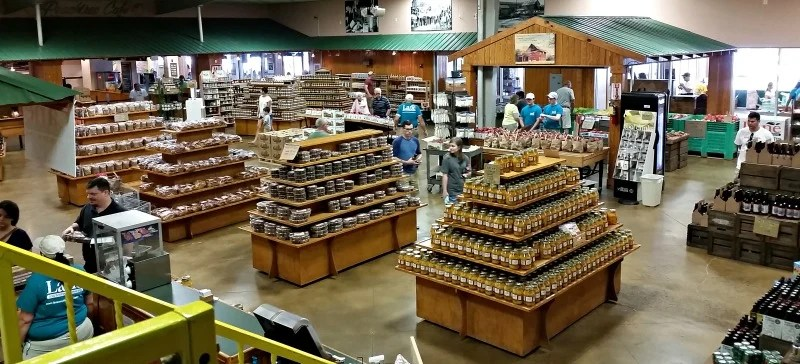 You will find all sorts of southern goodies in the store at Lane Southern Orchards