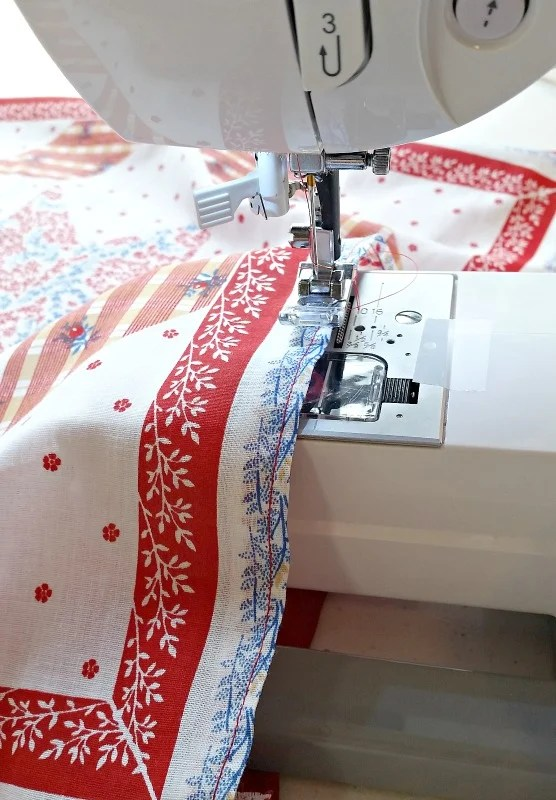 After pinning, sew right sides together