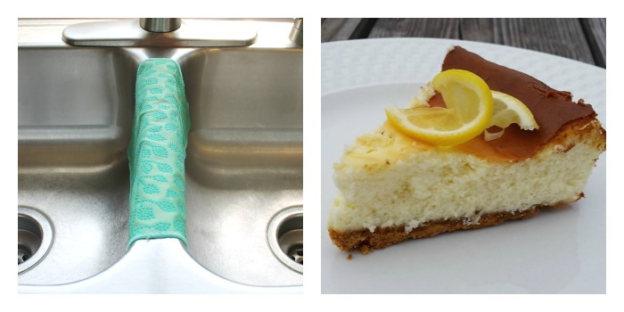 How to keep your dish cloth stink and stain free plus a Lemon Cheesecake recipe