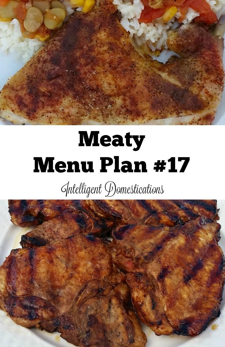 Meaty Menu Plan #17 at intelligentdomestications.com