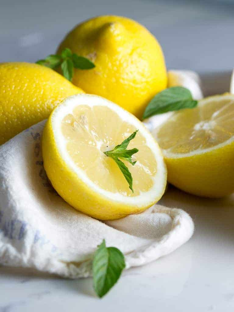 Lemons and mint are a wonderful combination