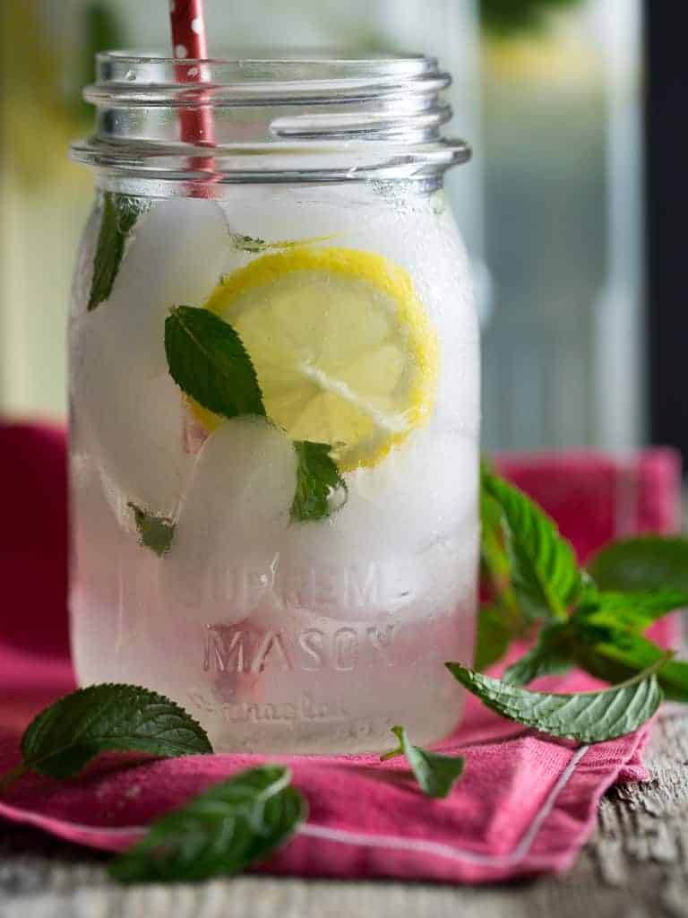 Lemonade and Mint what a great summer drink