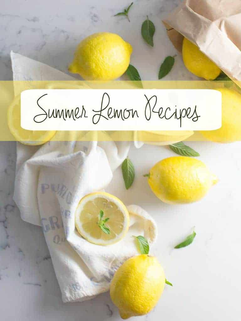 Summer Lemon Recipes