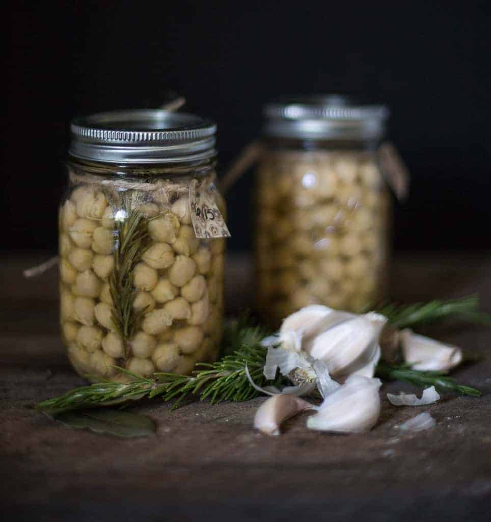 Canning  chickpeas yourself yields a superior product and opens the door to creating unique flavors not found in common grocery store cans of chickpeas.