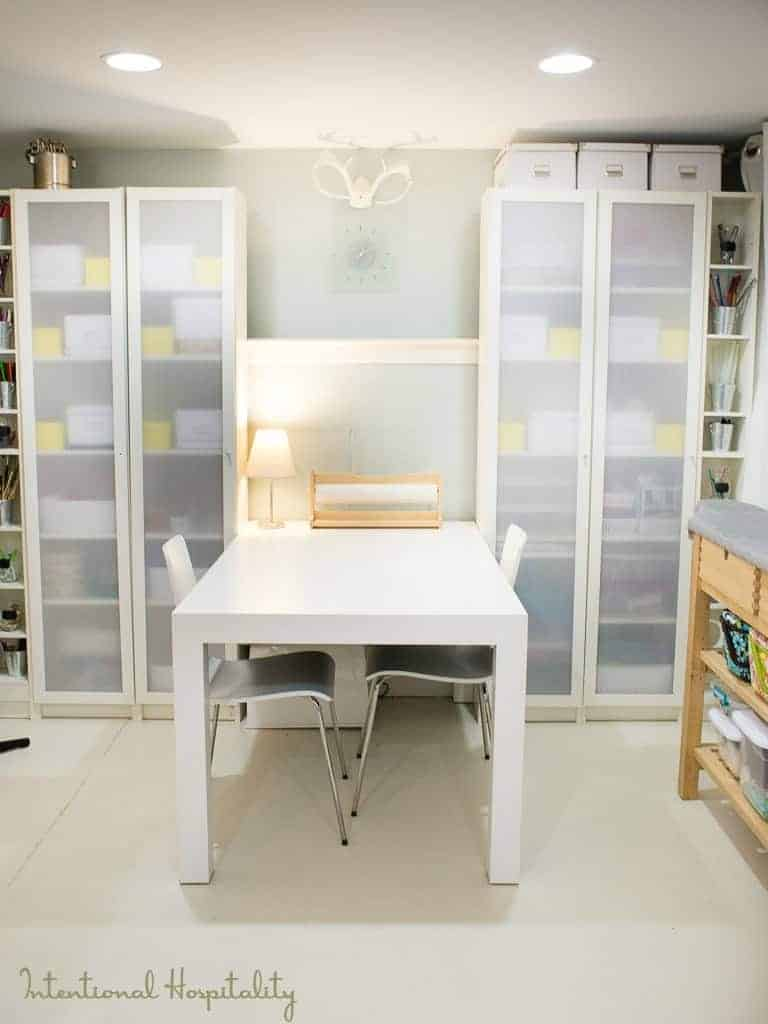 Intentional Hospitality, Where Bloggers Create 2015     My studio is happy place, a place to be creative whether it's working in colored pencils, watercolors, sewing, crafts or photography there is space to do it all. There is also storage to keep all my supplies neatly in order.