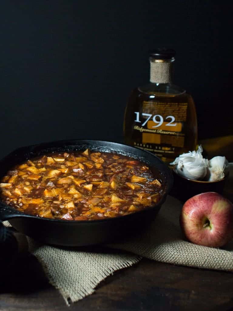 Each bite of these Apples and Bourbon Baked Beans brings a new flavor sensation in your mouth. You will find hints of bourbon, maple syrup, bacon or a smokey bbq hint of cinnamon with each new bite.