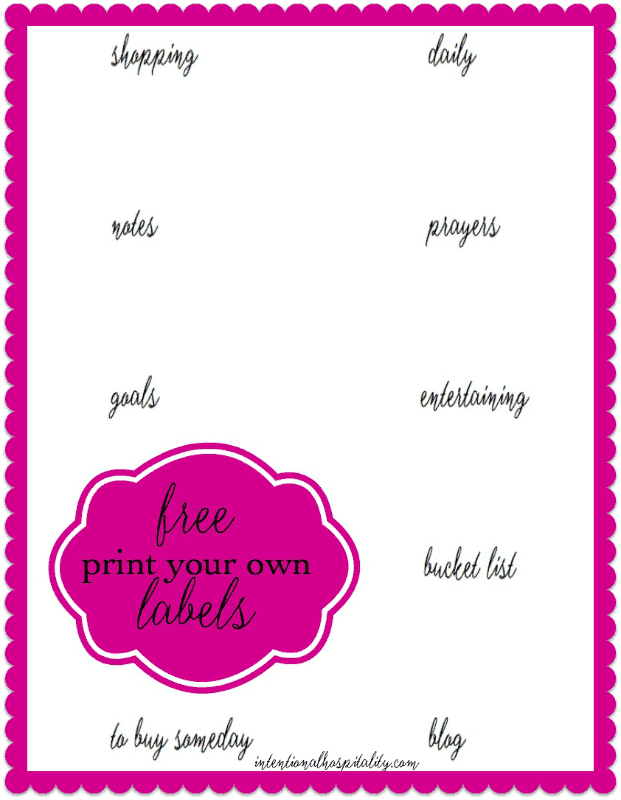 Create your own planner tab labels with this free printable.