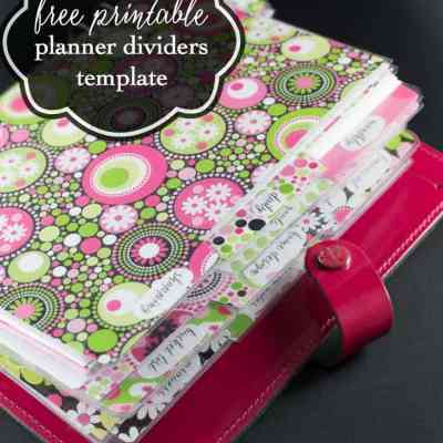 Free Planner Dividers and Tabs