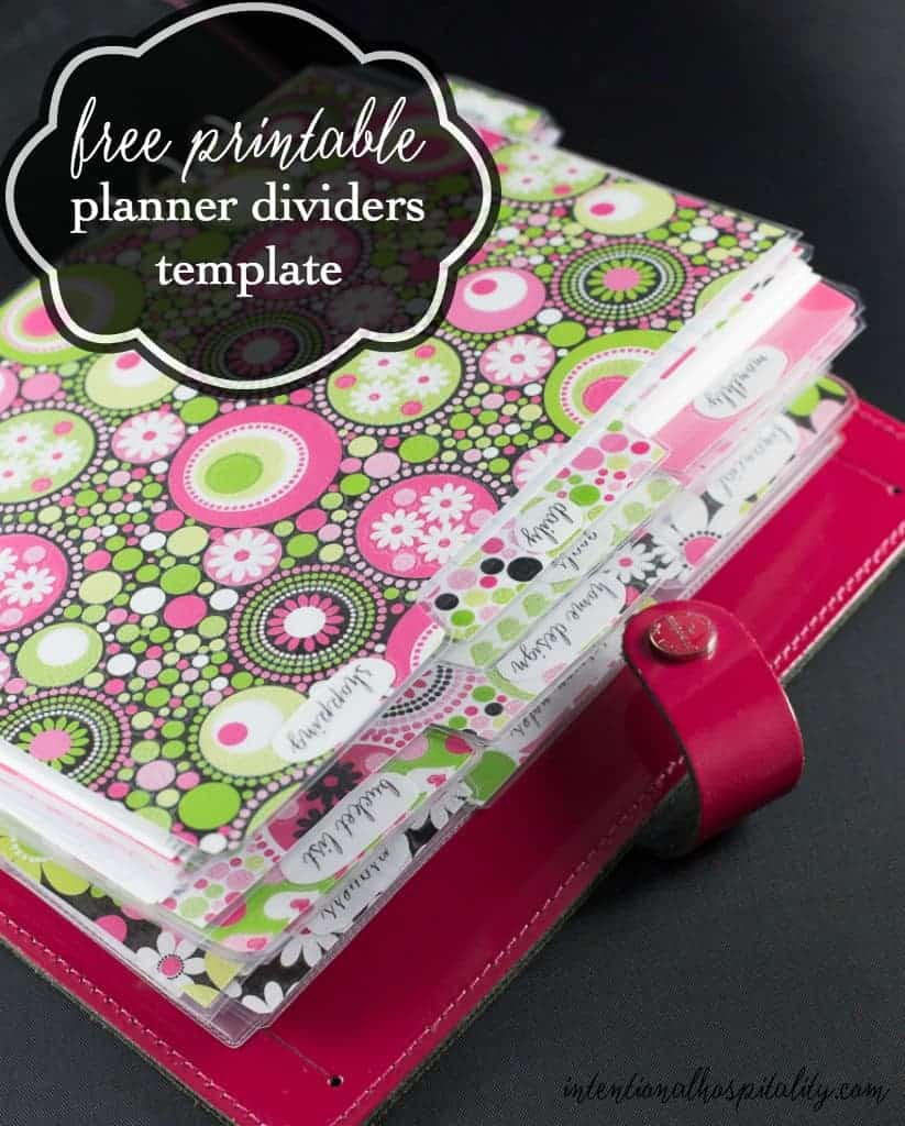 It is easy to make your own really cute dividers and tabs for your planner with  this Free Planner Dividers and Tabs printable. Free printable to help you easily make your own A5 planner  dividers and tabs.  You can make the full size side tabs or the 1/2 sheet top tabs.
