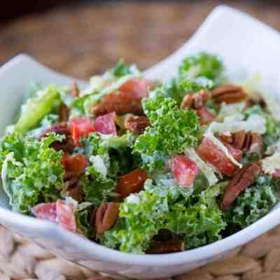 Low Carb Italian Kale  Salad