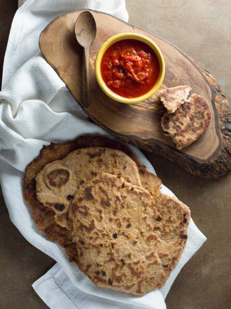Uzbekistan Winter Salad, creates a sweet dipping sauce for homemade whole wheat naan.