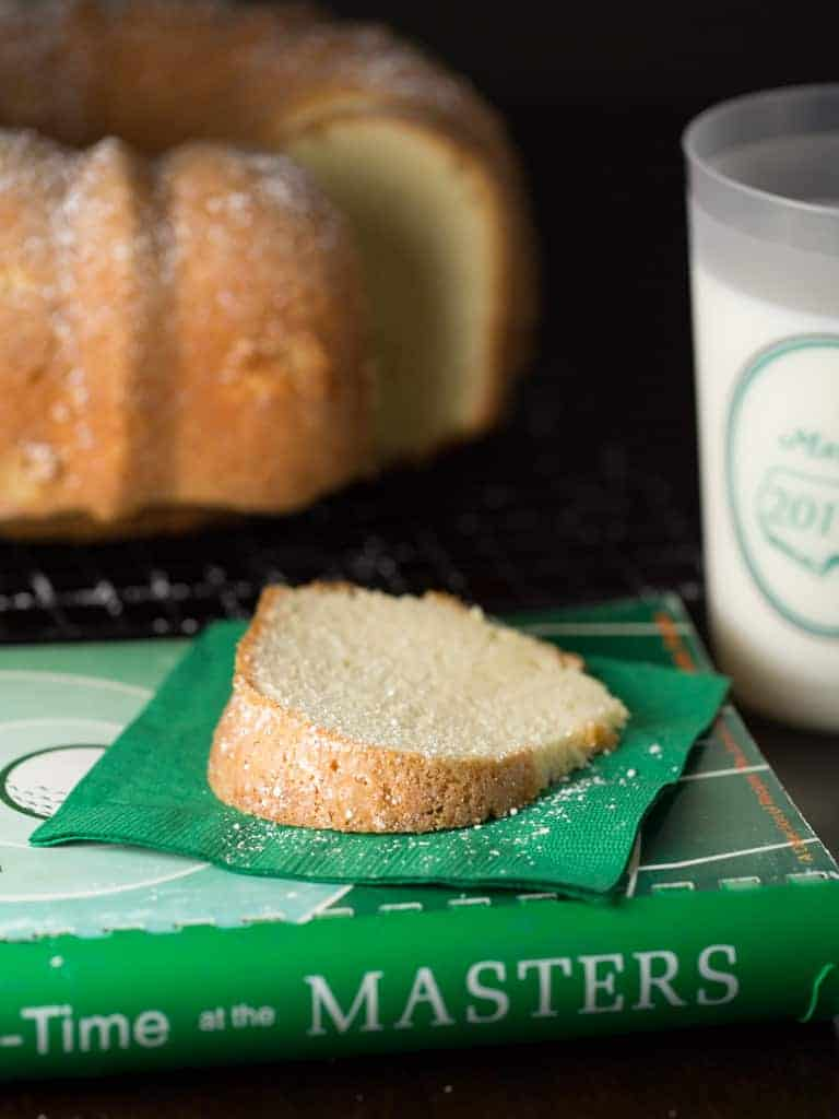 Simple sweet pound cake to southerners is as traditional as Augusta National is to golf.  So it's safe to say, Augusta National Sour Cream Pound Cake is the pinnacle of southern pound cake recipes, with smooth sour cream and sweet buttery flavor.