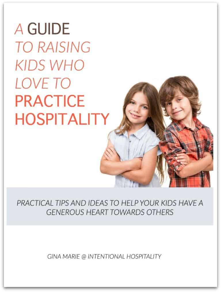 A Guide To Raising Kids Who Love To Practice Hospitality Ebook Cover drowshadow