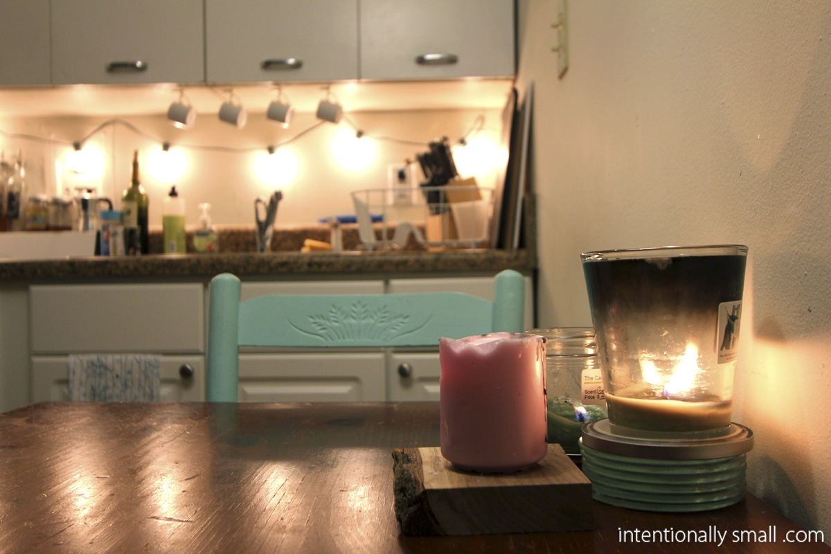 ikea lighting lantern kitchen lighting Lighting a Small Space Candles