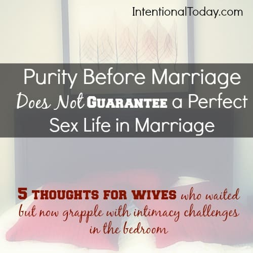 Purity before marriage does not gurantee a perfect sex lif in marriage