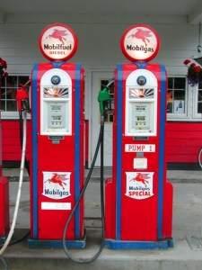 historic gasoline pumps