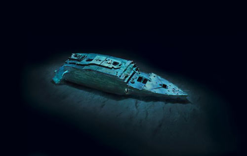 Unseen Underwater Images of Titanic