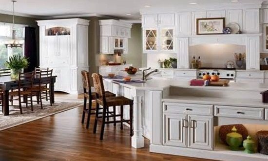 Decorating ideas for kitchen with white cabinets for Best brand of paint for kitchen cabinets with lilac wall art