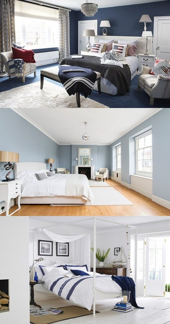 Blue And White In Bedrooms Nautical Designs Interior Design